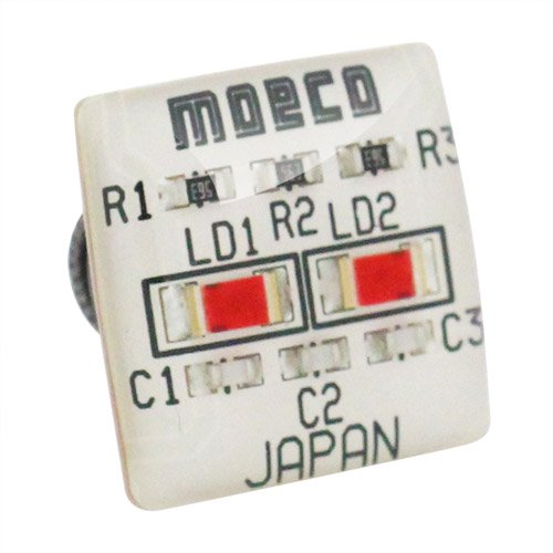 MOECO 基盤 ホワイト ピンズ ラペルピン