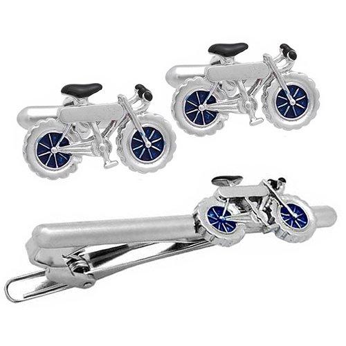 SWANK シルバー 自転車 カフス&ネクタイピンセット