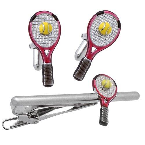 SWANK テニスラケット カフス&ネクタイピンセット