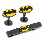 Batman バットマン ブラック カフス ネクタイピン セット