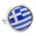 ギリシャ 国旗 カフス