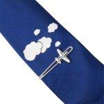 飛行機 雲 ネクタイ ネクタイピン セット