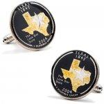 Ox & Bull Trading Co ハンドペイント テキサス クオーター コイン カフス