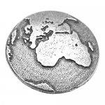 シロメ製 プラネット アース 地球 ピンズ ラペルピン