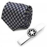Star Wars スターウォーズ 帝国軍シンボル ネイビー ネクタイ ネクタイピン セット