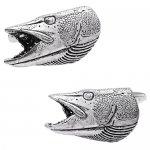 シロメ製 スズキ 魚 ヘッド カフス