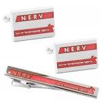 エヴァンゲリオン × SWANK NERV カフス タイピン セット レッド