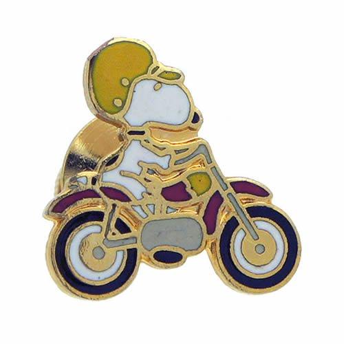 ビンテージ スヌーピー ラペルピン ピンズ バイク