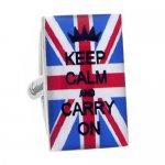 ユニオンジャック Keep Calm and Carry On カフス