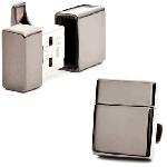 Ravi Ratan ガンメタル 2GB USB カフス