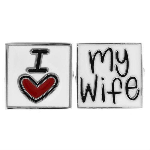 奥様を愛するあなたへ I LOVE MY WIFE カフス
