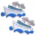 ホワイト&ブルー 船 SWANK カフス