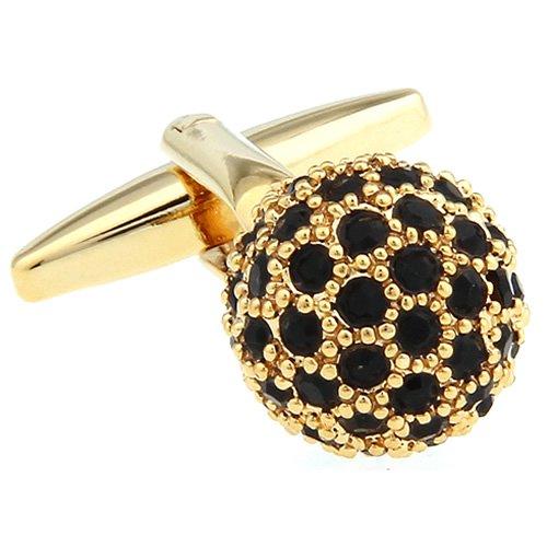 ゴールド&ブラッククリスタル ボール カフス