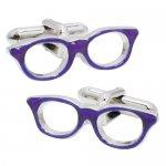 紫ふちメガネ SWANK カフス