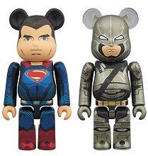 BE@RBRICK SUPERMAN &ARMORED BATMAN 2 PACK