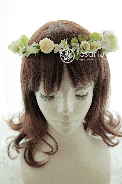 野の花の花冠