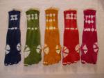 草木染めの5本指靴下の商品画像