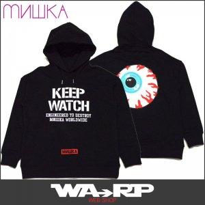 ミシカ MISHKA上海 KEEP WATCH HOODIE(BLACK)ミシカパーカ MISHKAパーカ ミシカプルオーバー MISHKAプルオーバー
