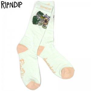 リップンディップ RIPNDIP TROPICALIA SOCKS(BLUE)リップンディップ靴下 RIPNDIP靴下 リッピンディップ靴下