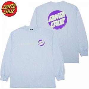 98ea520ef83c サンタクルーズ SANTA CRUZ OTHER DOT LONGSLEEVE TEE(PUWDER BLUE)サンタクルーズロンT SANTA  CRUZロンT サンタクルーズロングTシャツ
