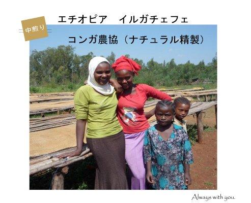 【エチオピア】イルガチェフェ・コンガ農協(中煎り)200g
