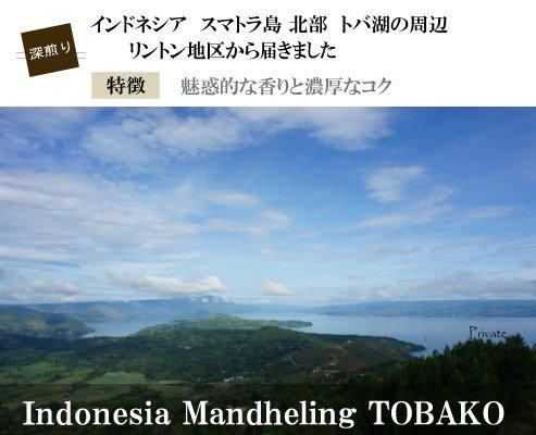 【インドネシア】フレンチ・マンデリン・TOBAKO(深煎り)200g