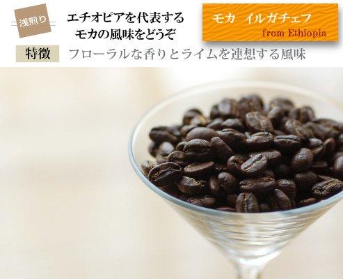 【エチオピア】モカ・イルガチェフ(浅煎り)200g