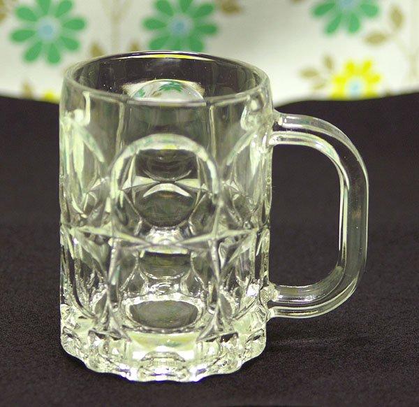 レトログラス プレスガラス ミニジョッキ