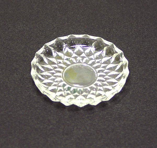 レトロ プレスガラス 豆皿