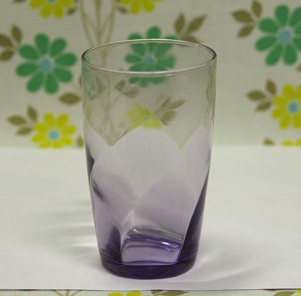 レトロモダン アデリアカラー モールガラス グラス パープル