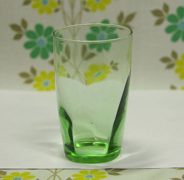 レトロモダン アデリアカラー モールガラス グラス グリーン