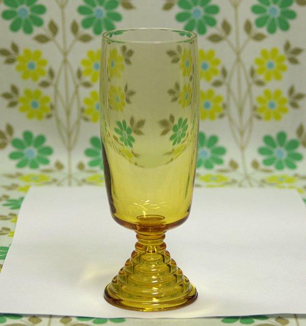 レトロモダン アンバーガラス chum ロンググラス