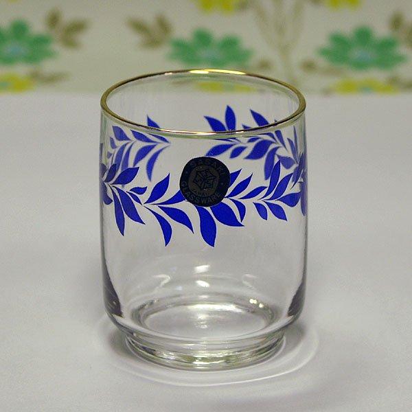 レトロポップ 金縁・月桂樹柄 ショートグラス