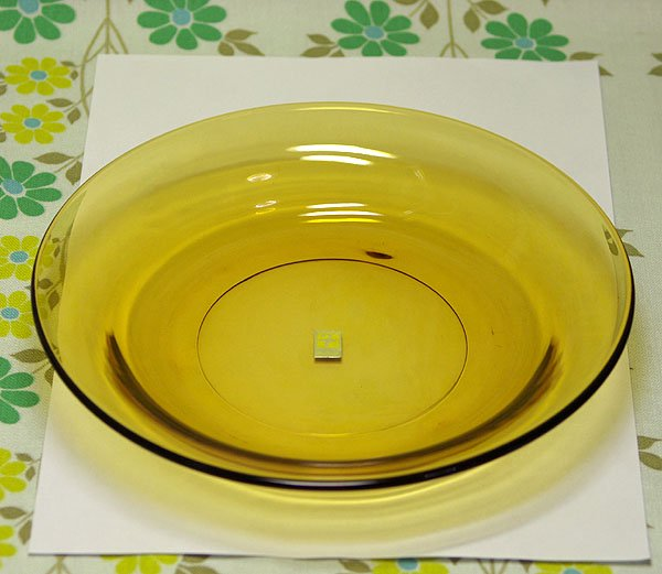 レトロモダン アンバーガラス スーププレート φ22cm