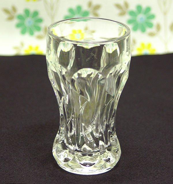 レトロ プレスガラス ソーダグラス