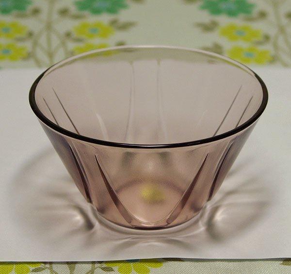 昭和レトロ ピンク プレスガラス 氷コップ