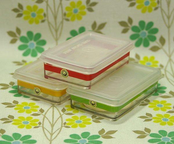 レトロプラスチック ニューカラーシリーズ ボーダー柄 ミニケース