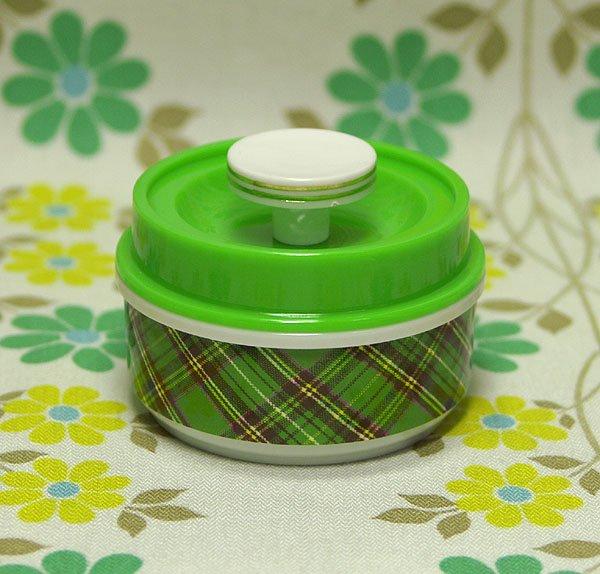 レトロプラスチック スコットランドシリーズ ファンシーポット 丸浅型(小) グリーン