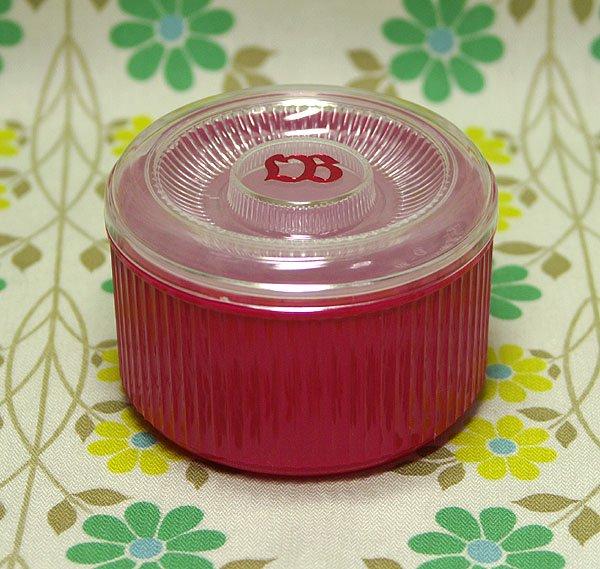 レトロプラスチック エルビー ノベルティ 中フタ付き保存容器 ピンク
