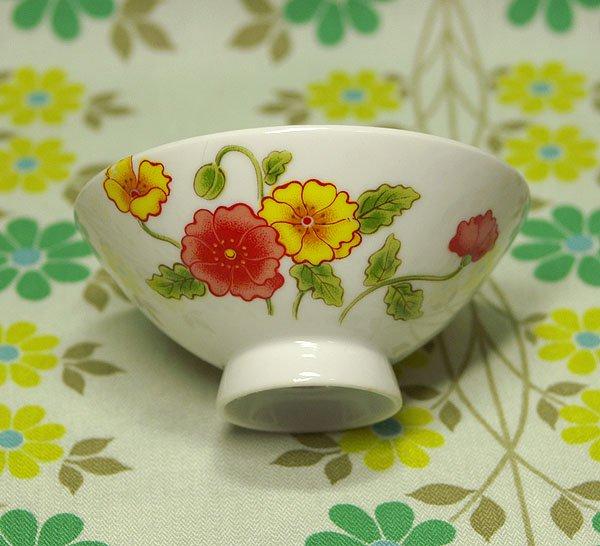 レトロポップ ポピー花柄 茶碗
