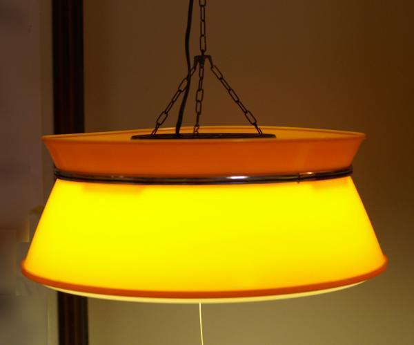 レトロポップ オレンジ×クリアシェード 蛍光灯ランプ