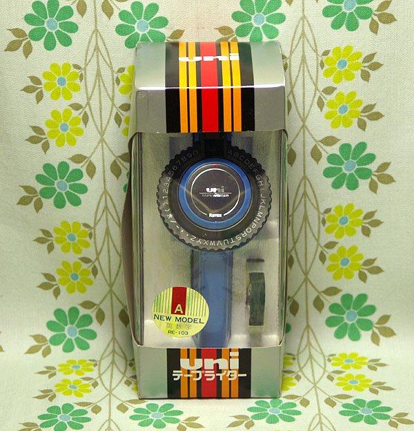 レトロポップ UNIテープライター RE-103 青