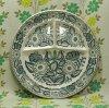ビンテージ 陶器製 花柄 ランチプレート