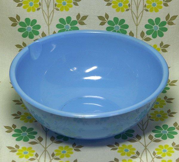 レトロプラスチック 片口ボウル ブルー