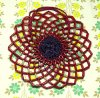 レトロポップ 花型 ビーズ編み バッグ