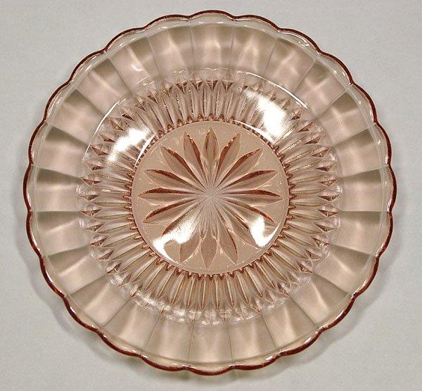 レトロポップ ピンク プレスガラス 小皿