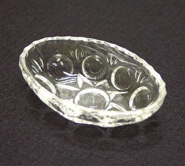 レトロ プレスガラス オーバル 豆鉢皿