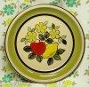 レトロポップ ストーンウェア ディナープレート3 花柄・リンゴ・レモン Φ27cm