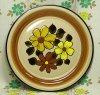 レトロポップ ストーンウェア ディナープレート4 花柄 Φ27cm