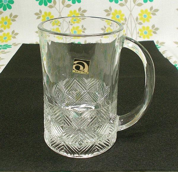 レトロ プレスガラス ミニジョッキグラ...